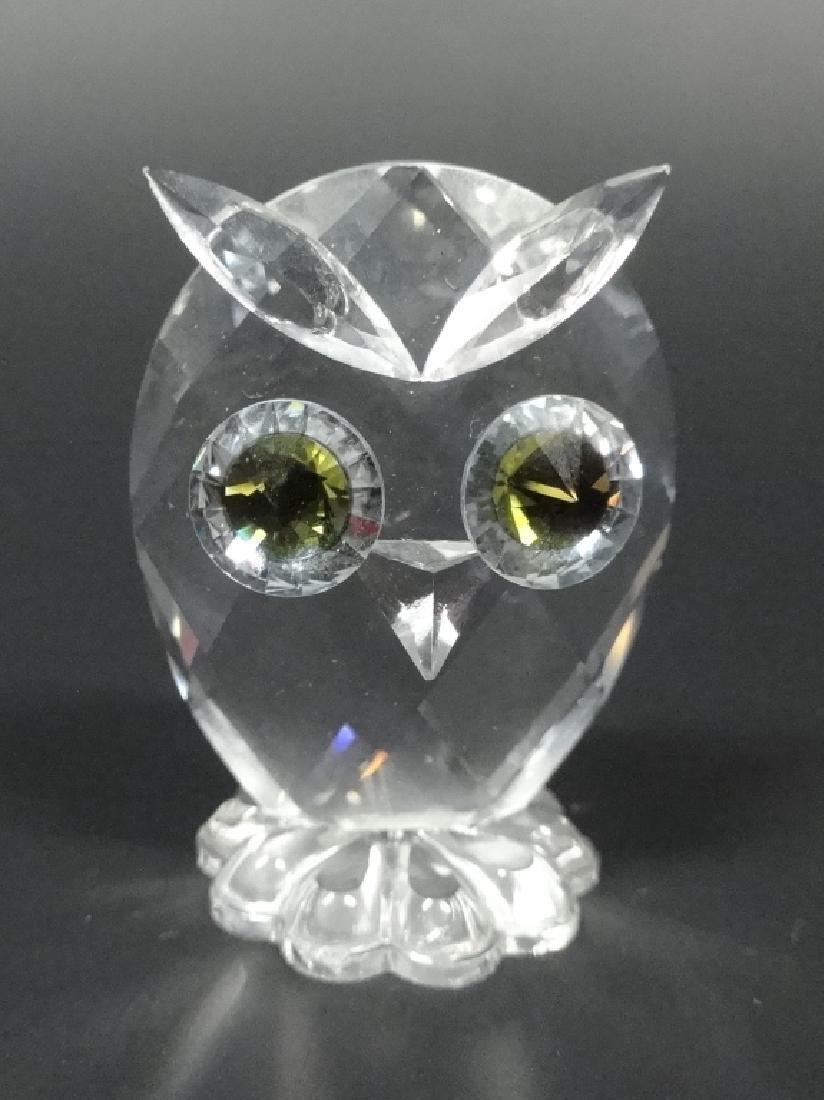 SWAROVSKI SILVER CRYSTAL OWL, #7654 038 000, MADE IN