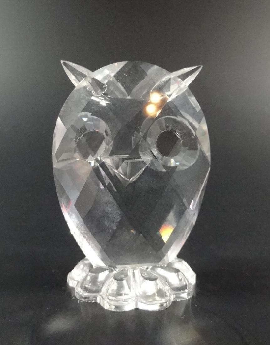 SWAROVSKI SILVER CRYSTAL OWL, #7654 038 000, MADE IN - 3