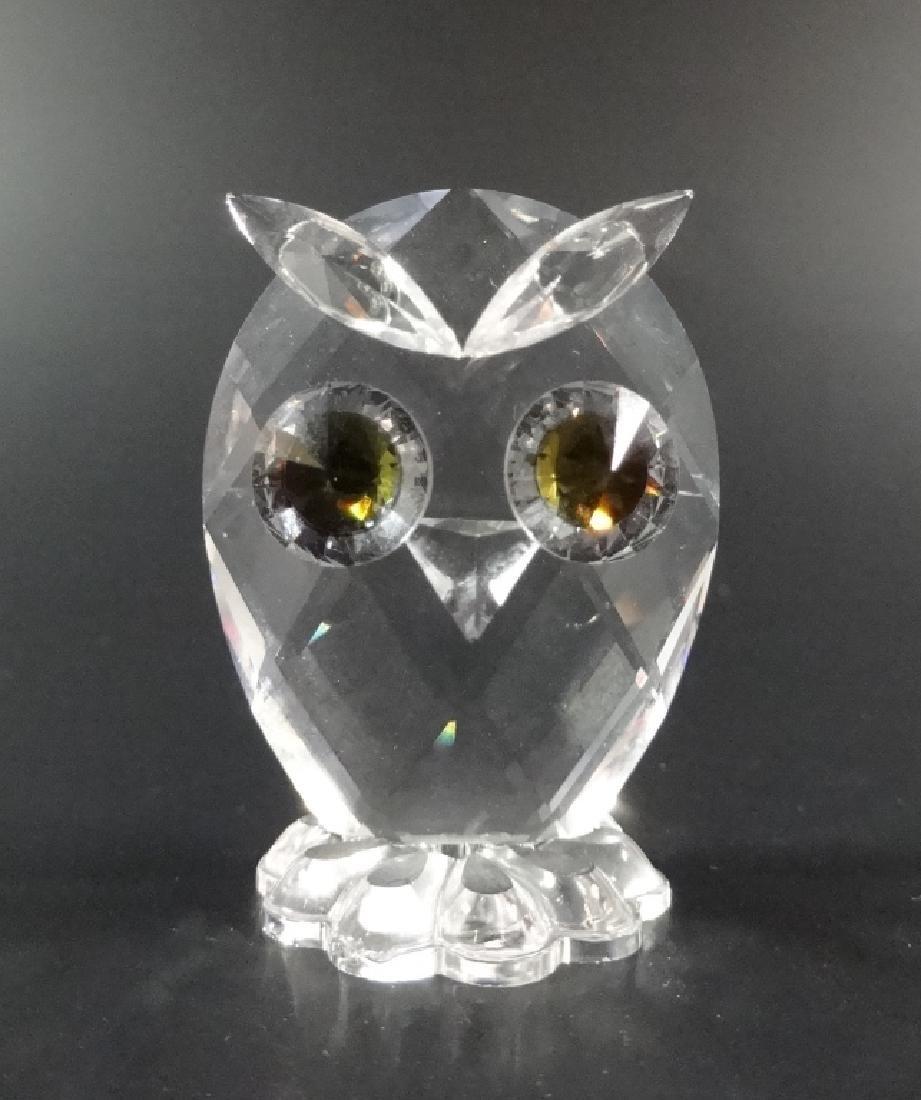 SWAROVSKI SILVER CRYSTAL OWL, #7654 038 000, MADE IN - 5