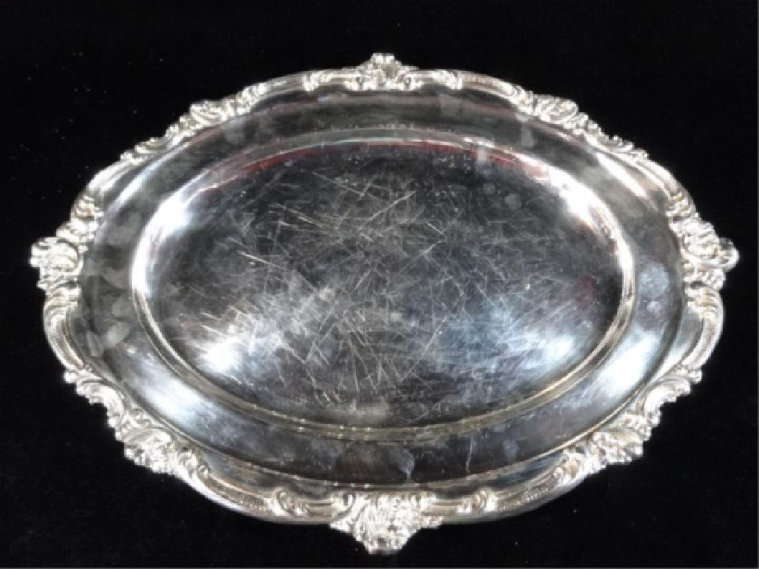 """GORHAM SILVER PLATE OVAL PLATTER, MARKED, 17"""" X 13"""","""