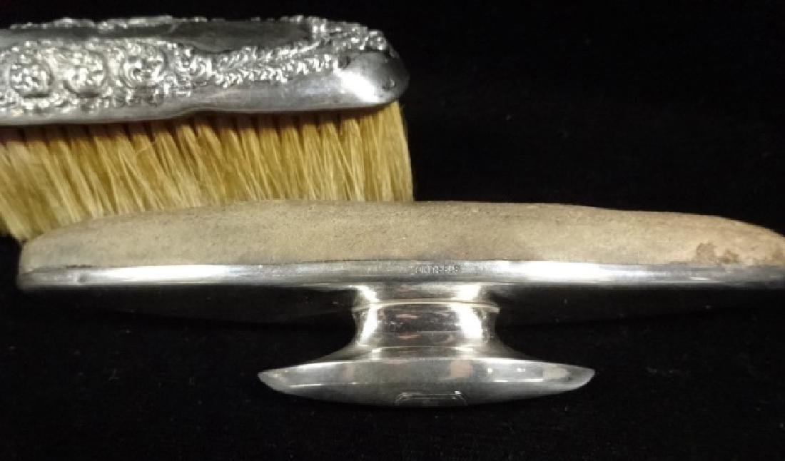 4 PC STERLING SILVER SHOE CARE KIT, WITH BUTTONHOOK - 4