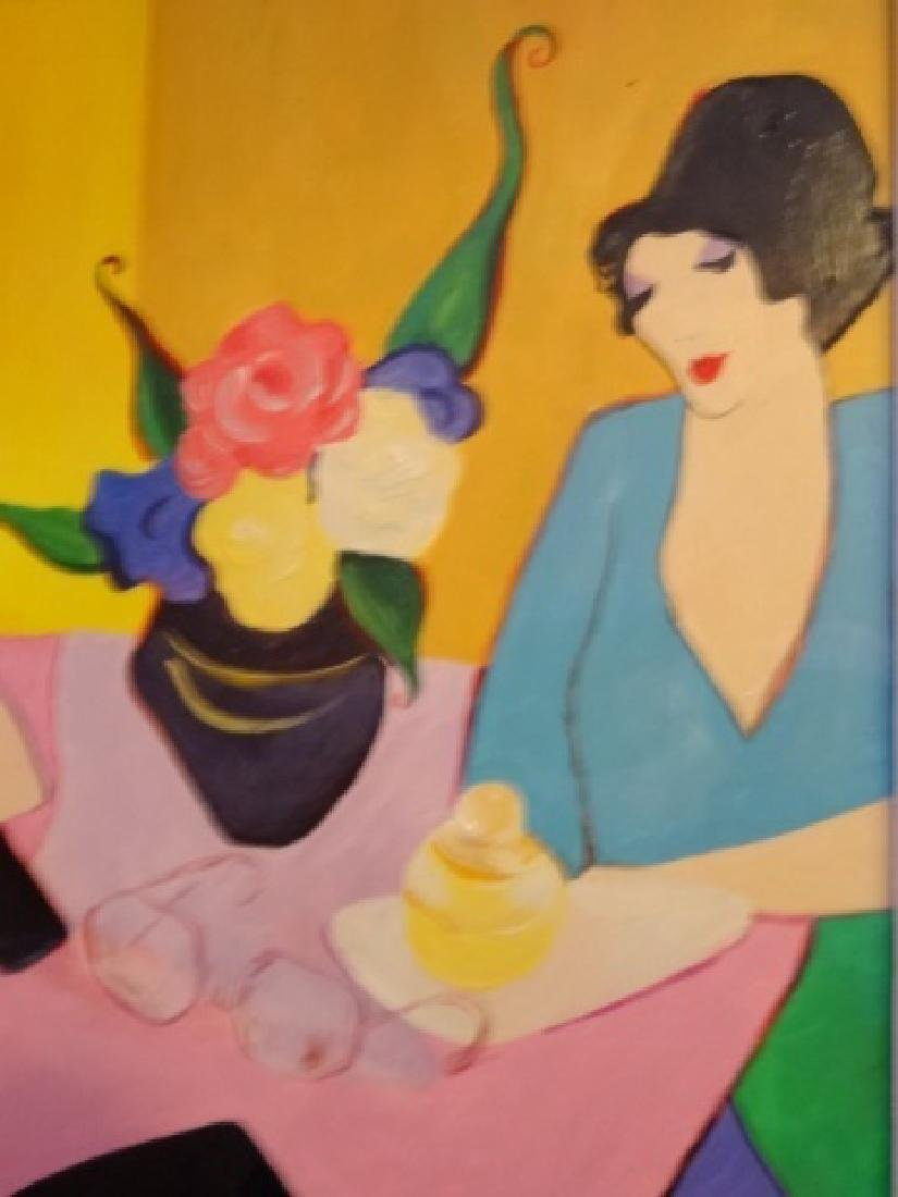 ITZCHAK TARKAY WATERCOLOR PAINTING, 2 LADIES, SIGNED - 5