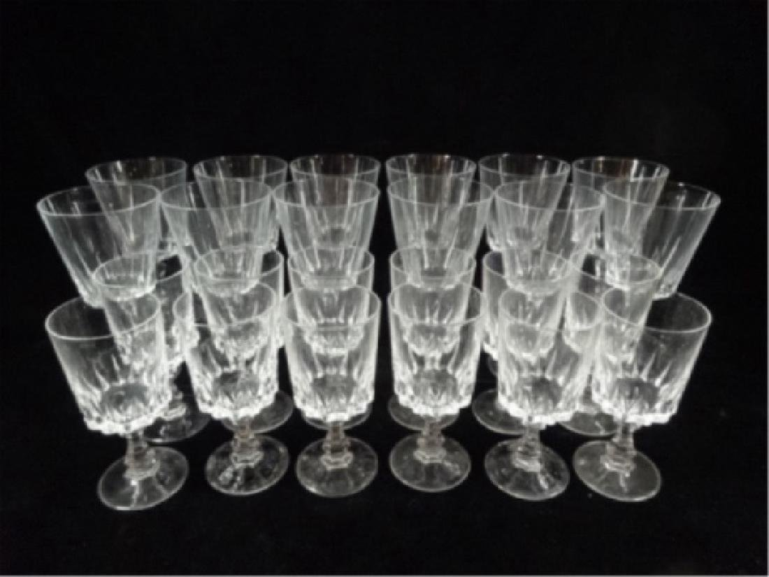 24 PC CRYSTAL STEMWARE, SIMILAR WITH DIFFERENT STEMS, - 4