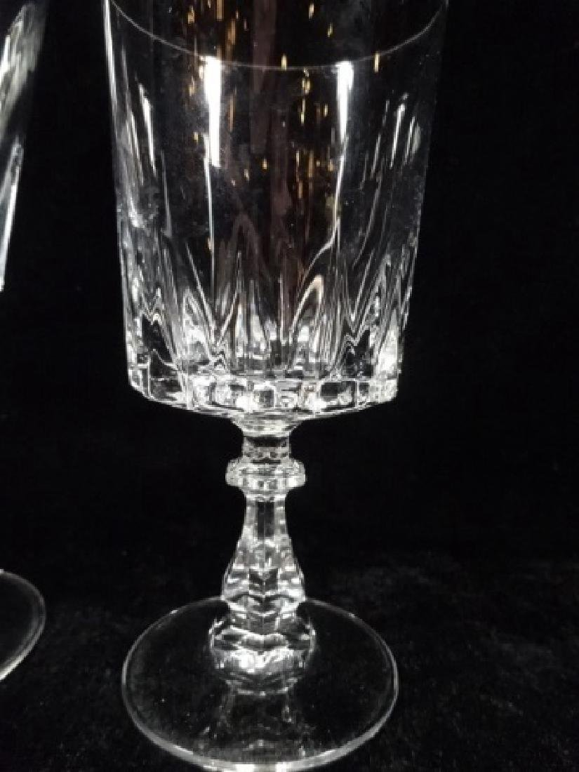 24 PC CRYSTAL STEMWARE, SIMILAR WITH DIFFERENT STEMS, - 7