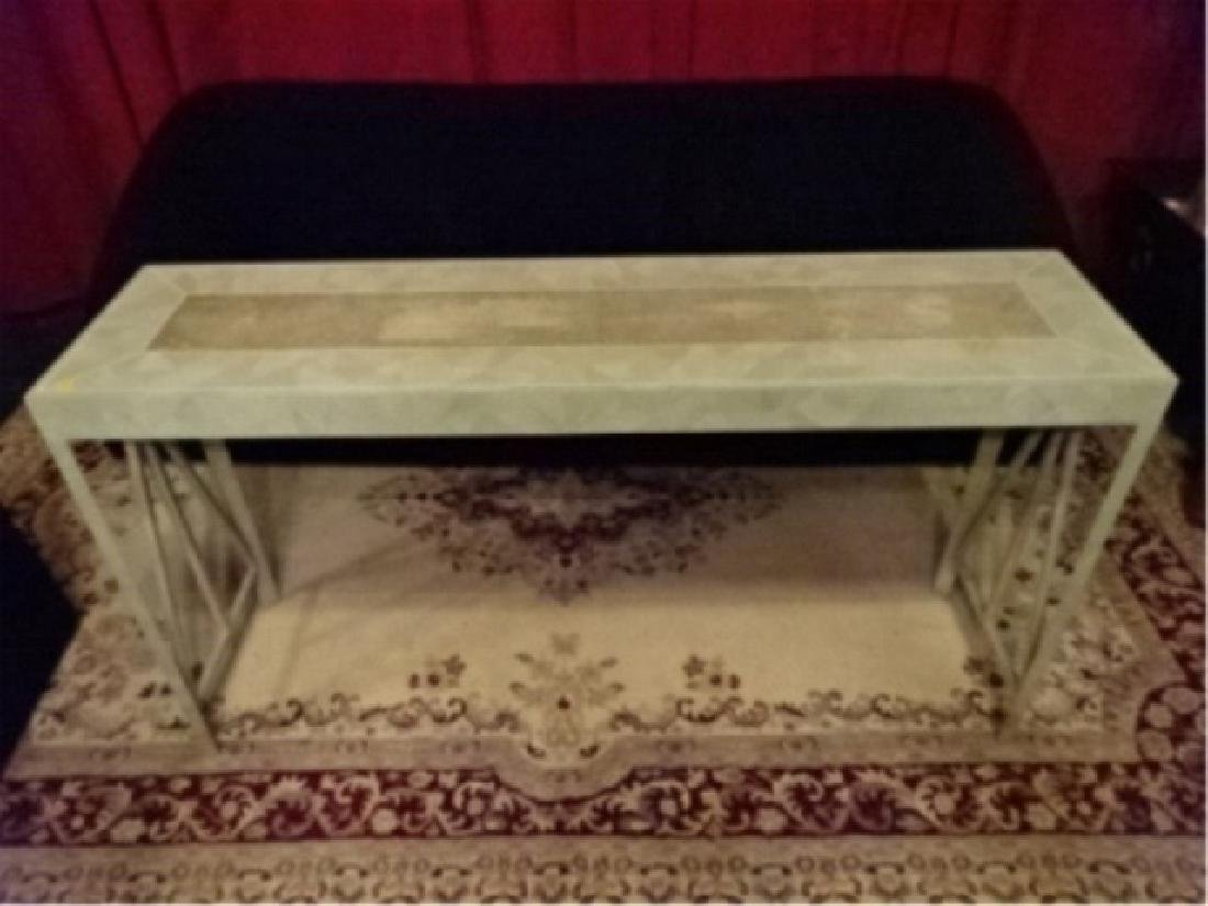 MAITLAND SMITH CONSOLE TABLE, TESSELATED STONE CLAD TOP - 2