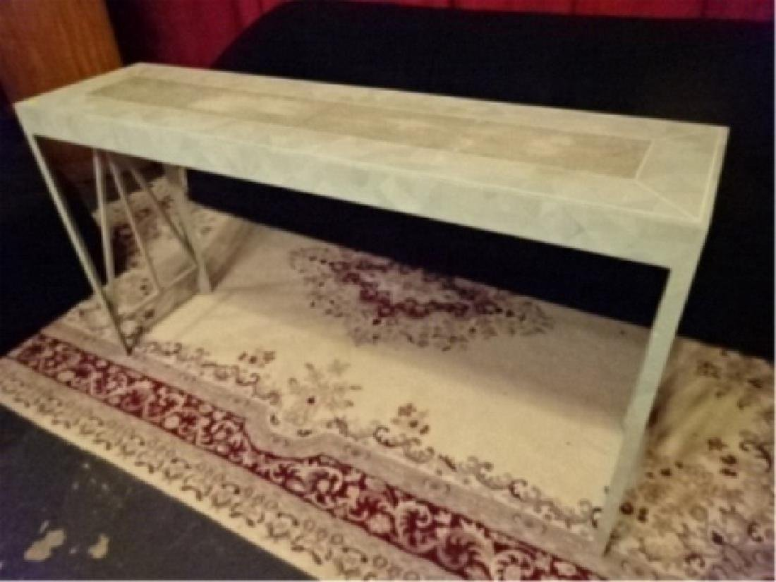 MAITLAND SMITH CONSOLE TABLE, TESSELATED STONE CLAD TOP - 3
