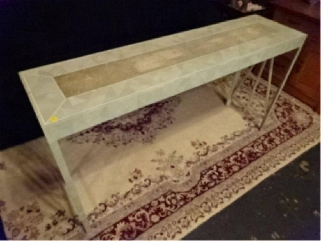 MAITLAND SMITH CONSOLE TABLE, TESSELATED STONE CLAD TOP - 4