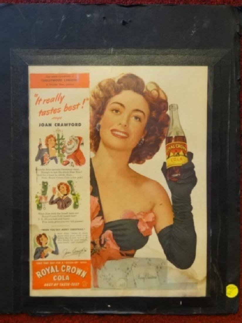 VINTAGE JOAN CRAWFORD ADVERTISEMENT, ROYAL CROWN COLA