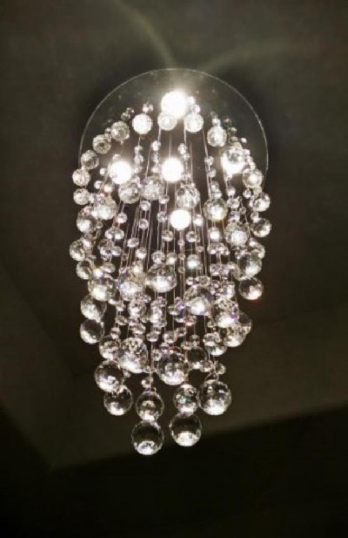 MODERN CHANDELIER, RAIN DROP HELIX WITH CRYSTAL BALLS, - 4
