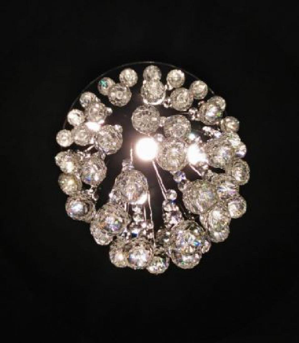 MODERN CHANDELIER, RAIN DROP HELIX WITH CRYSTAL BALLS, - 5
