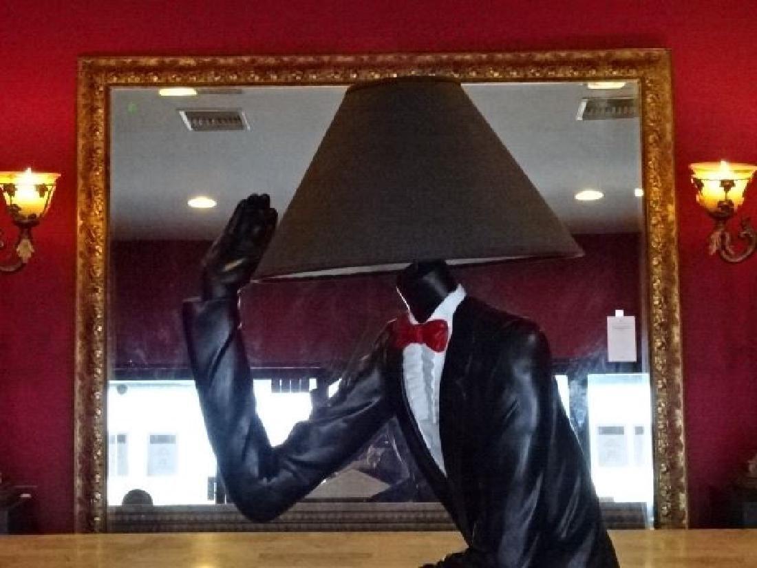 LIFESIZE FIGURAL FLOOR LAMP, MAN IN TUXEDO, PAINTED - 2