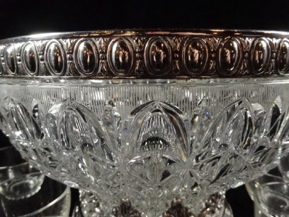 12 PC CRYSTAL PUNCHBOWL SET, PUNCHBOWL WITH ORNATE - 3