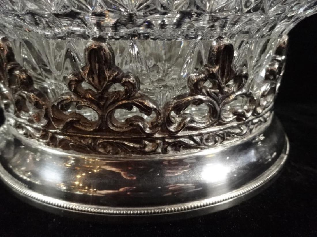 12 PC CRYSTAL PUNCHBOWL SET, PUNCHBOWL WITH ORNATE - 4