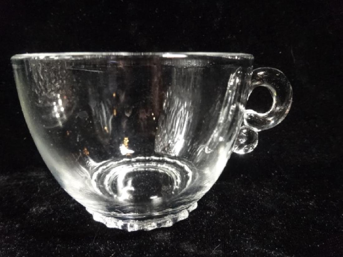 12 PC CRYSTAL PUNCHBOWL SET, PUNCHBOWL WITH ORNATE - 5