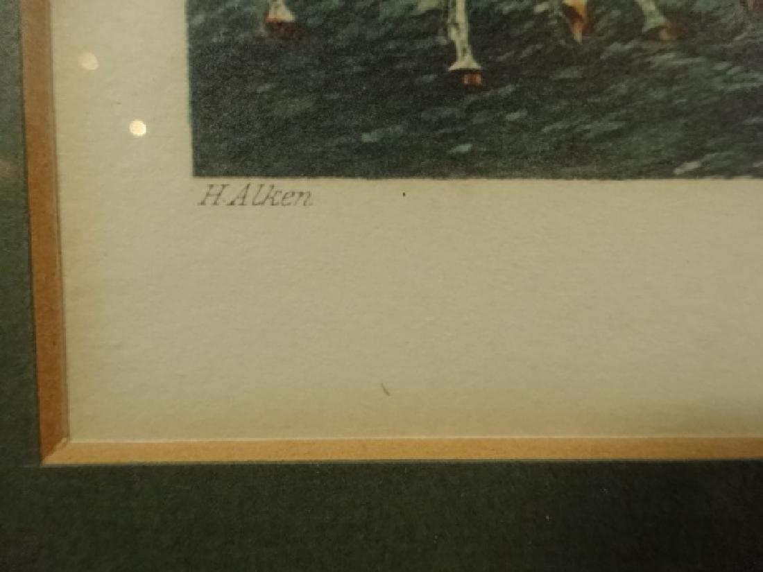 4 PC FOX HUNT COLOR PLATES, J. HARRIS / H. ALKEN, - 10