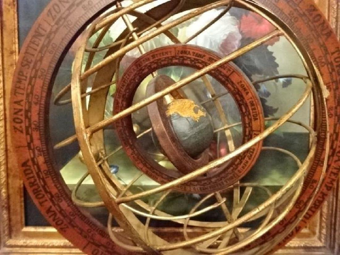 DECORATIVE WOOD AND METAL ASTROLABE, VERY GOOD - 3
