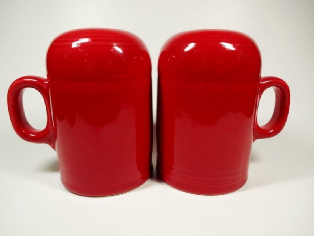 2 PC FIESTAWARE RED SALT & PEPPER SHAKERS, RANGETOP