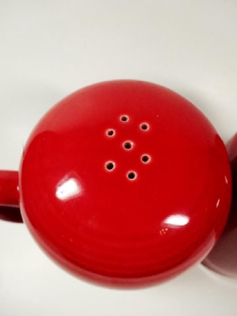 2 PC FIESTAWARE RED SALT & PEPPER SHAKERS, RANGETOP - 3