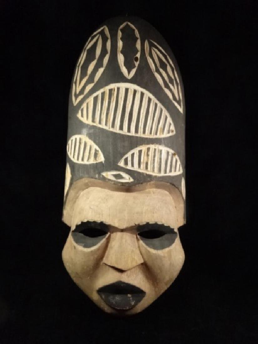 """CARVED WOOD MASK, APPROX 18.5""""H"""