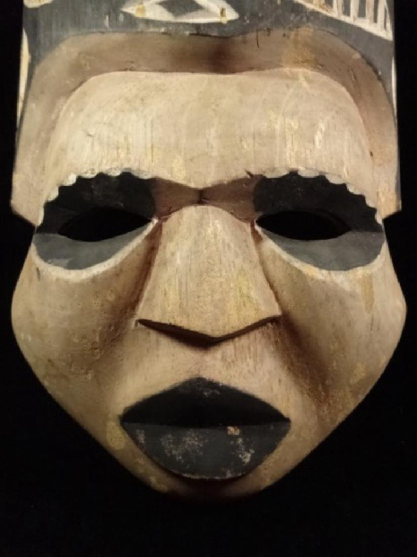 """CARVED WOOD MASK, APPROX 18.5""""H - 2"""