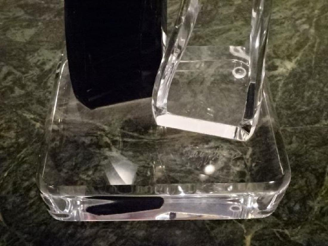 LUCY PHELPS LUCITE SCULPTURE, 2 LOVERS, CLEAR AND BLACK - 4