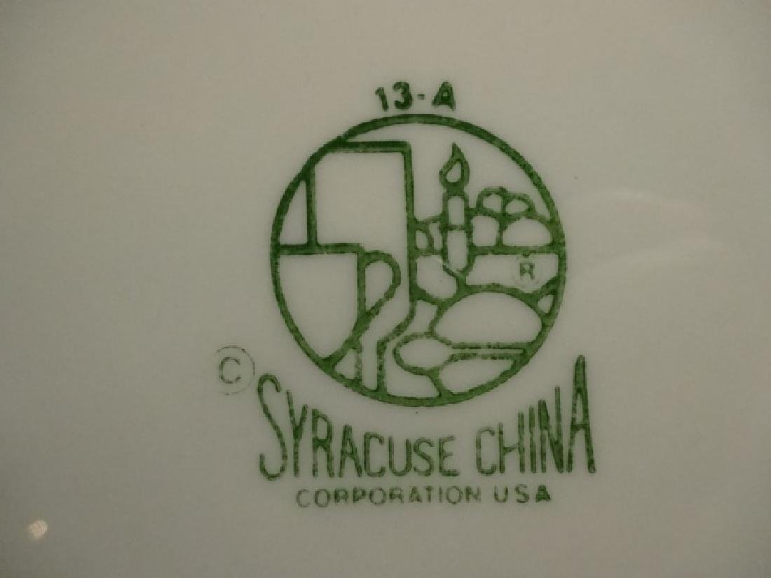 12 PC SYRACUSE CHINA DINNER PLATES, DARK BLUE/PURPLE - 6