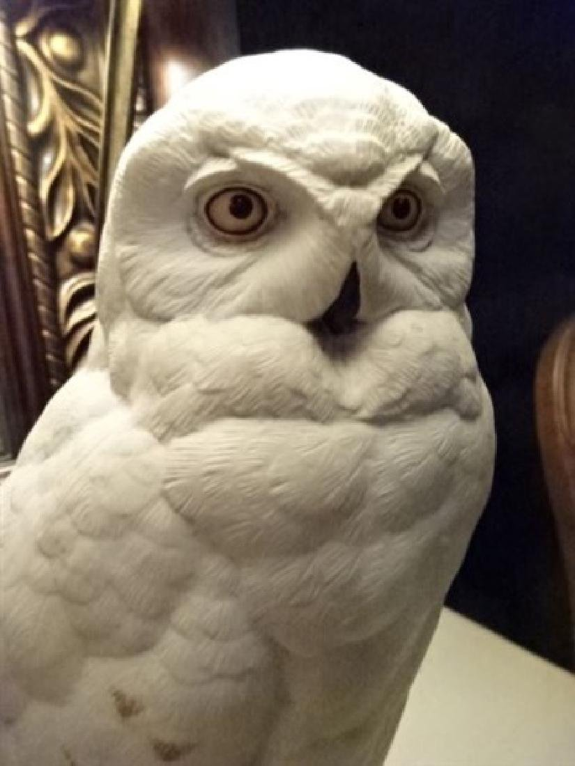 CERAMIC WHITE OWL TABLE LAMP, VERY GOOD CONDITION, - 5