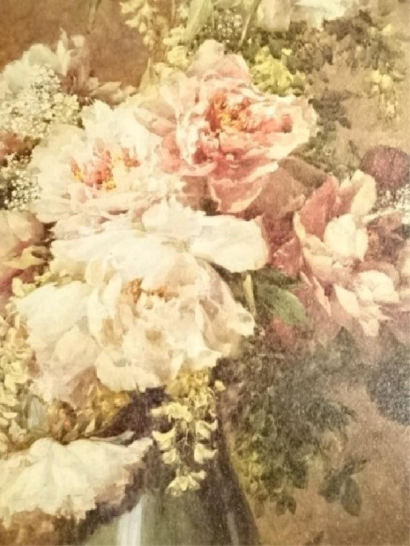 2 FRAMED RENOIR REPRODUCTION FLORAL GICLEES, IN GOLD - 4