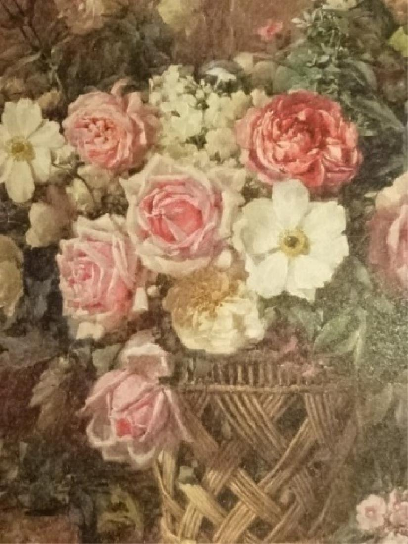 2 FRAMED RENOIR REPRODUCTION FLORAL GICLEES, IN GOLD - 5