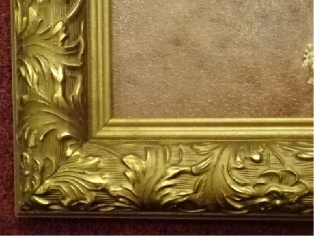 2 FRAMED RENOIR REPRODUCTION FLORAL GICLEES, IN GOLD - 6