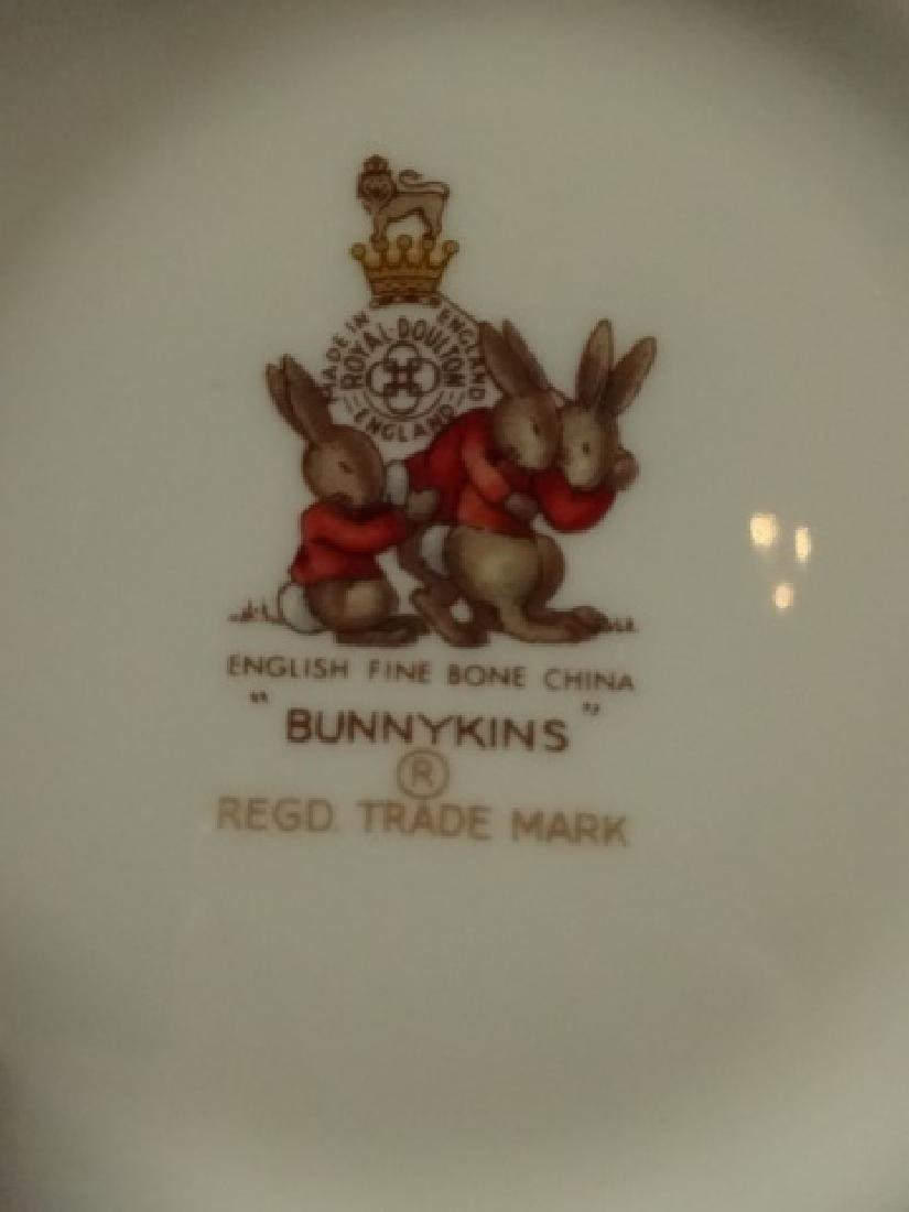 3 P BUNNYKINS PLATE, BOWL & CUP, ENGLISH FINE BONE - 6