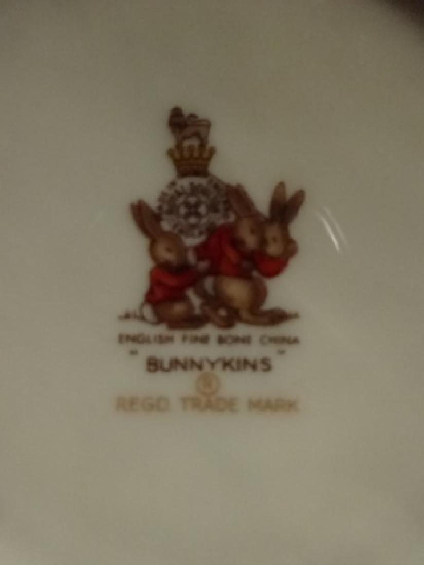 3 P BUNNYKINS PLATE, BOWL & CUP, ENGLISH FINE BONE - 7