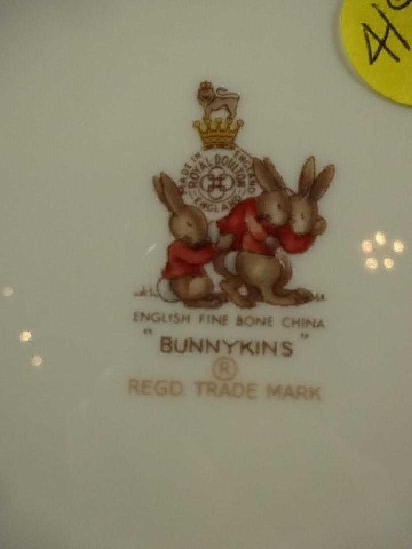 3 P BUNNYKINS PLATE, BOWL & CUP, ENGLISH FINE BONE - 8