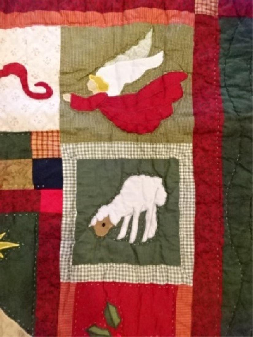 CHRISTMAS THEME QUILT, NATIVITY SCENE, VERY GOOD - 5