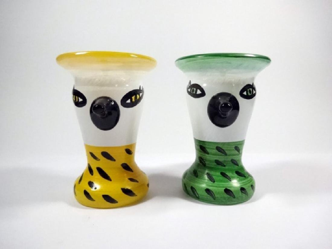 2 PC VINTAGE KOSTA BODA EGG CUPS BY ULRICA
