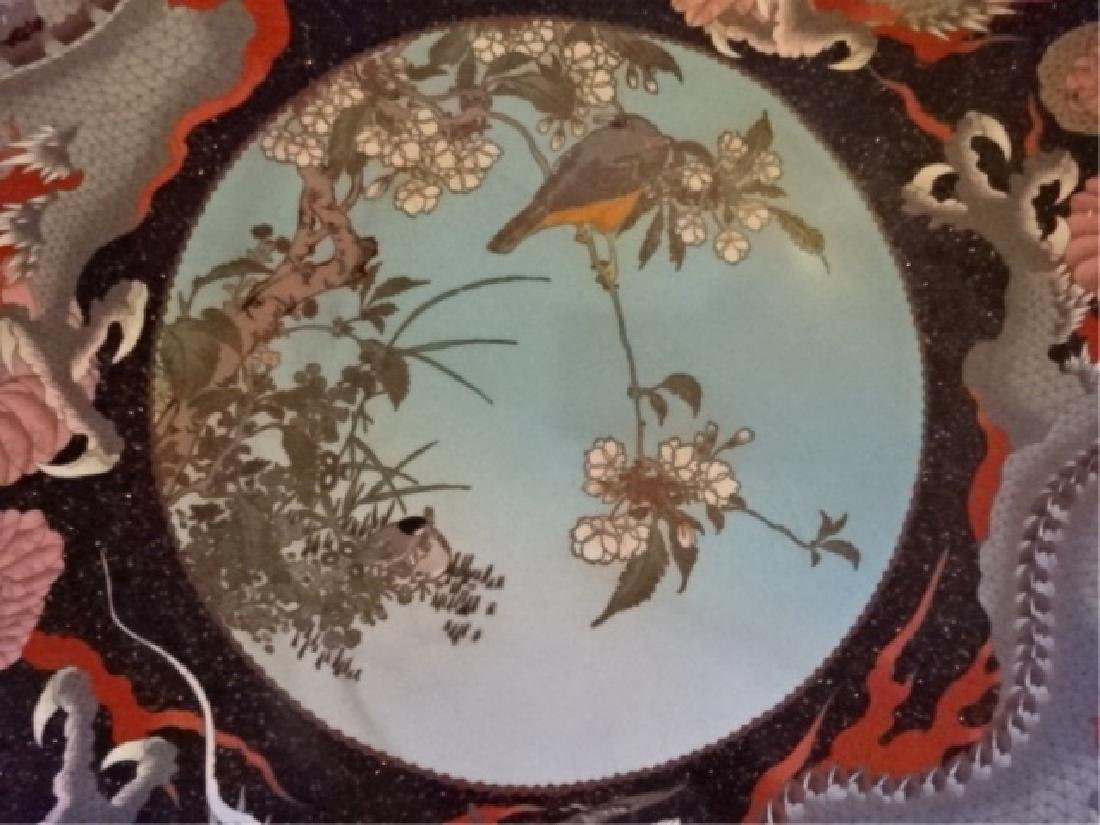 LARGE CHINESE CLOISONNE PLATTER, EARLY 20TH C., INLAID - 3