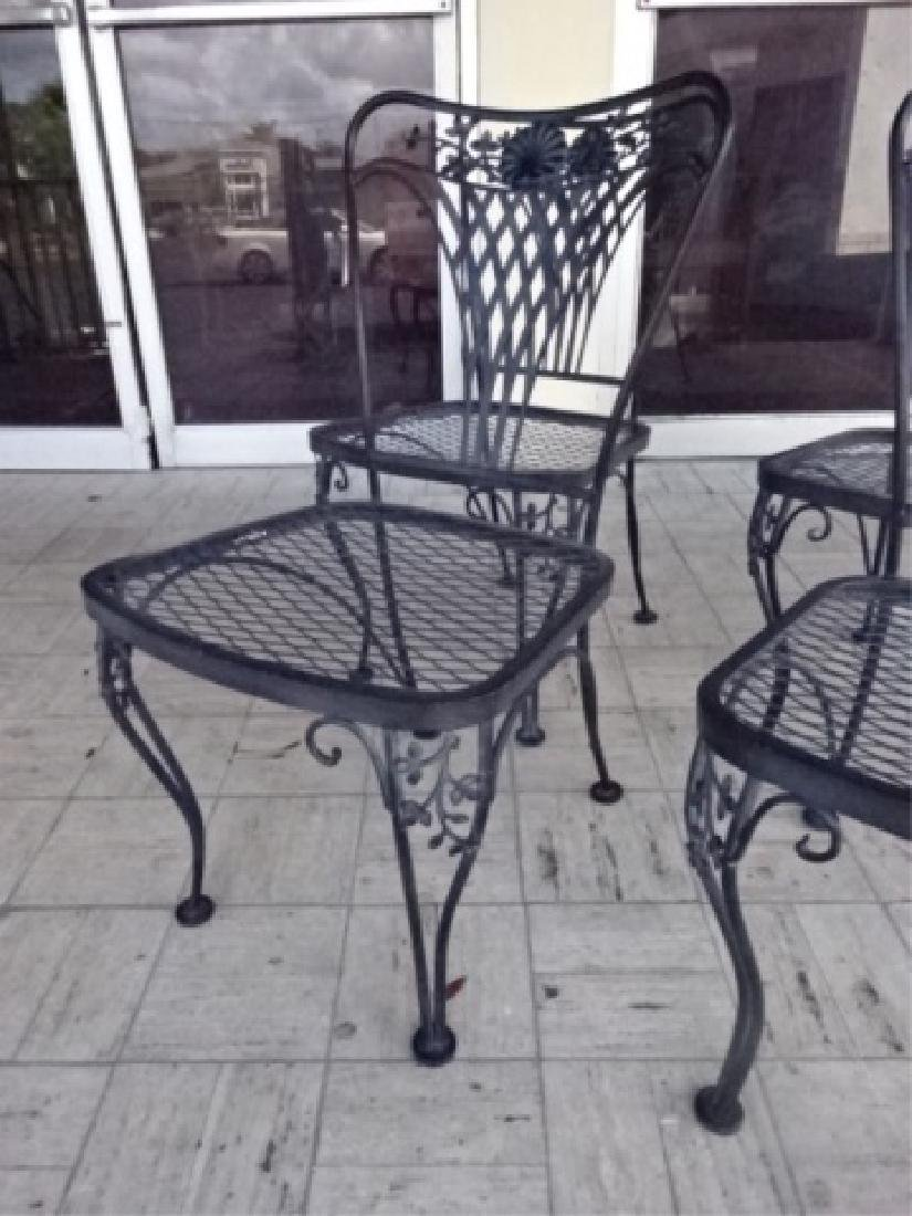 4 SALTERININI STYLE PATIO CHAIRS, BLACK FINISH METAL - 2