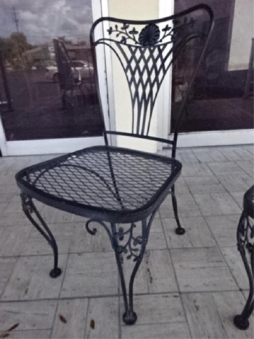 4 SALTERININI STYLE PATIO CHAIRS, BLACK FINISH METAL - 3