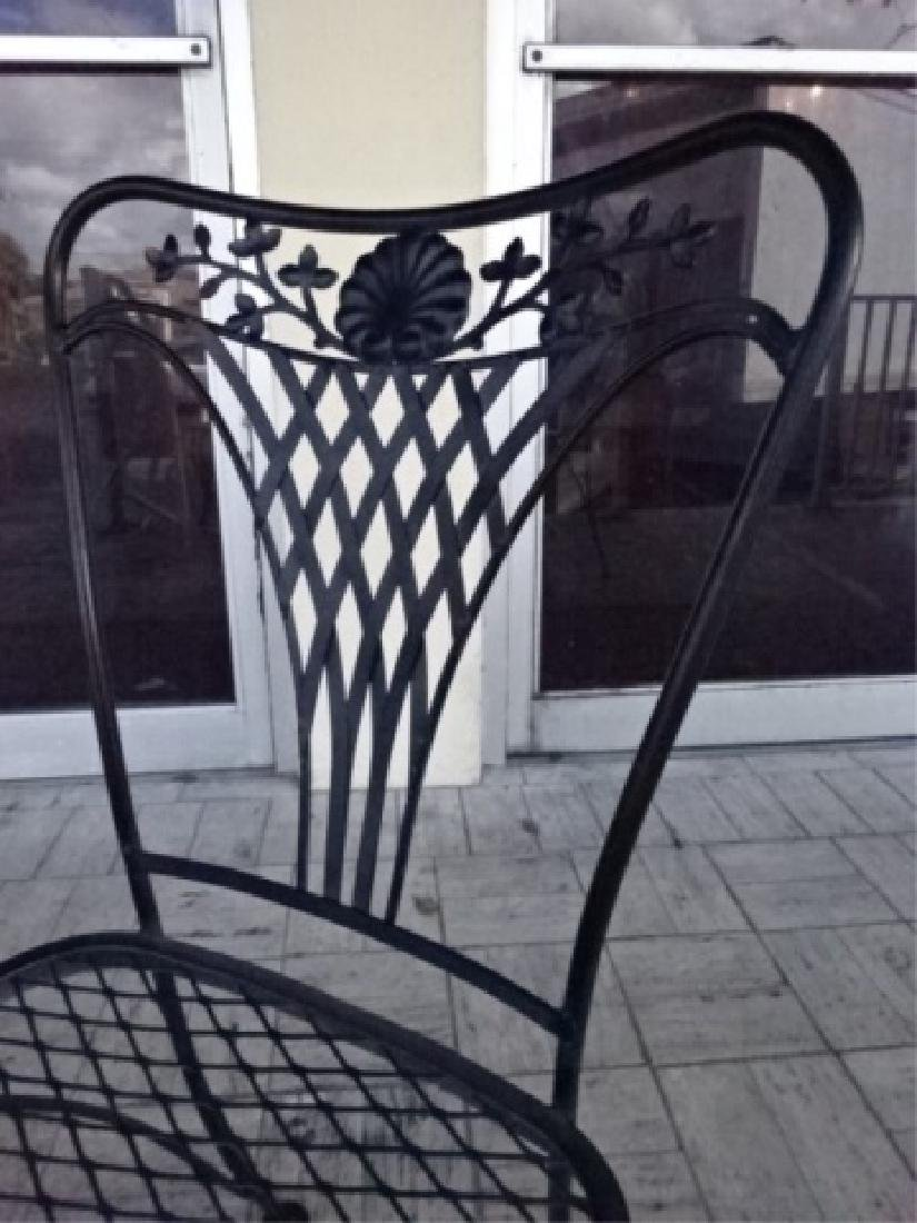 4 SALTERININI STYLE PATIO CHAIRS, BLACK FINISH METAL - 4