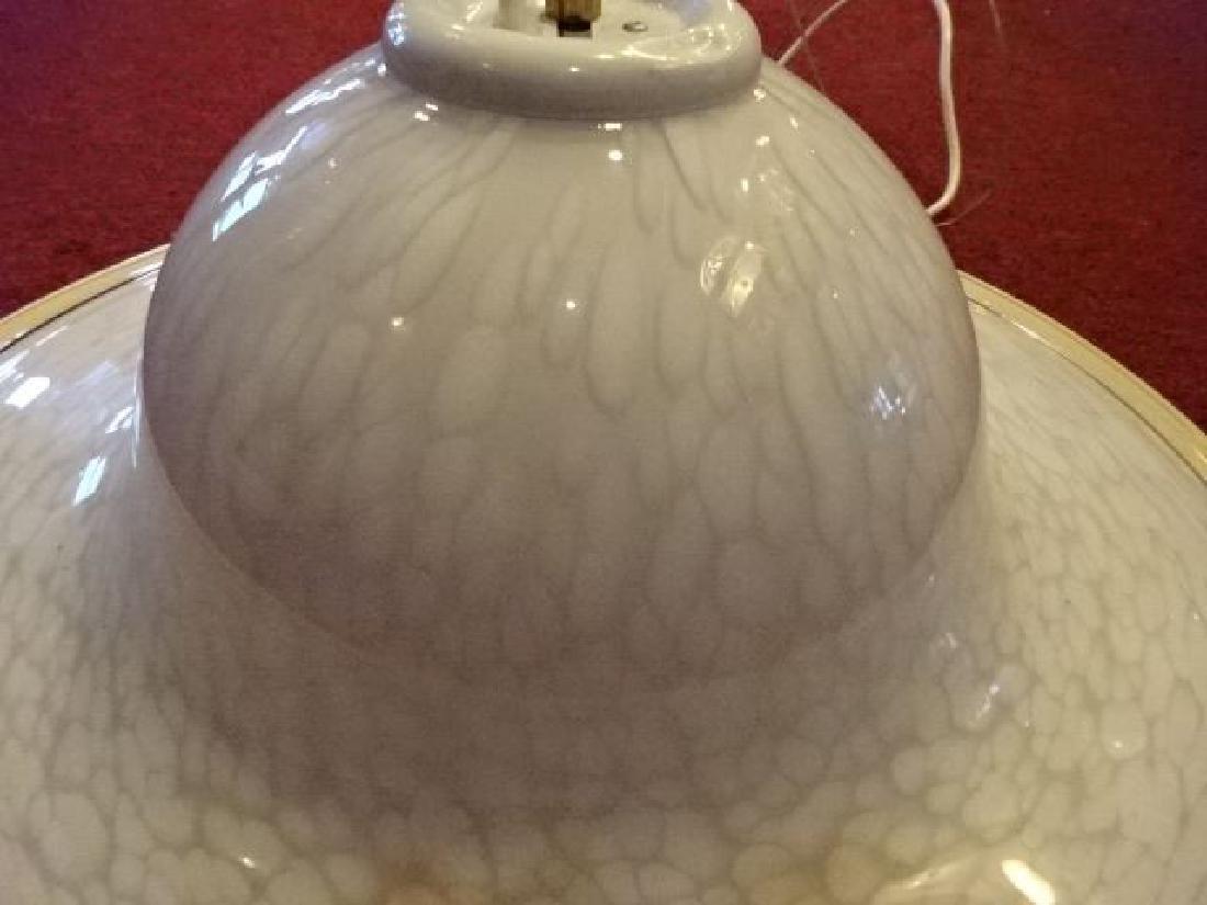 VEART ITALIAN ART GLASS CEILING LAMP, WHITE AND CREAM - 3