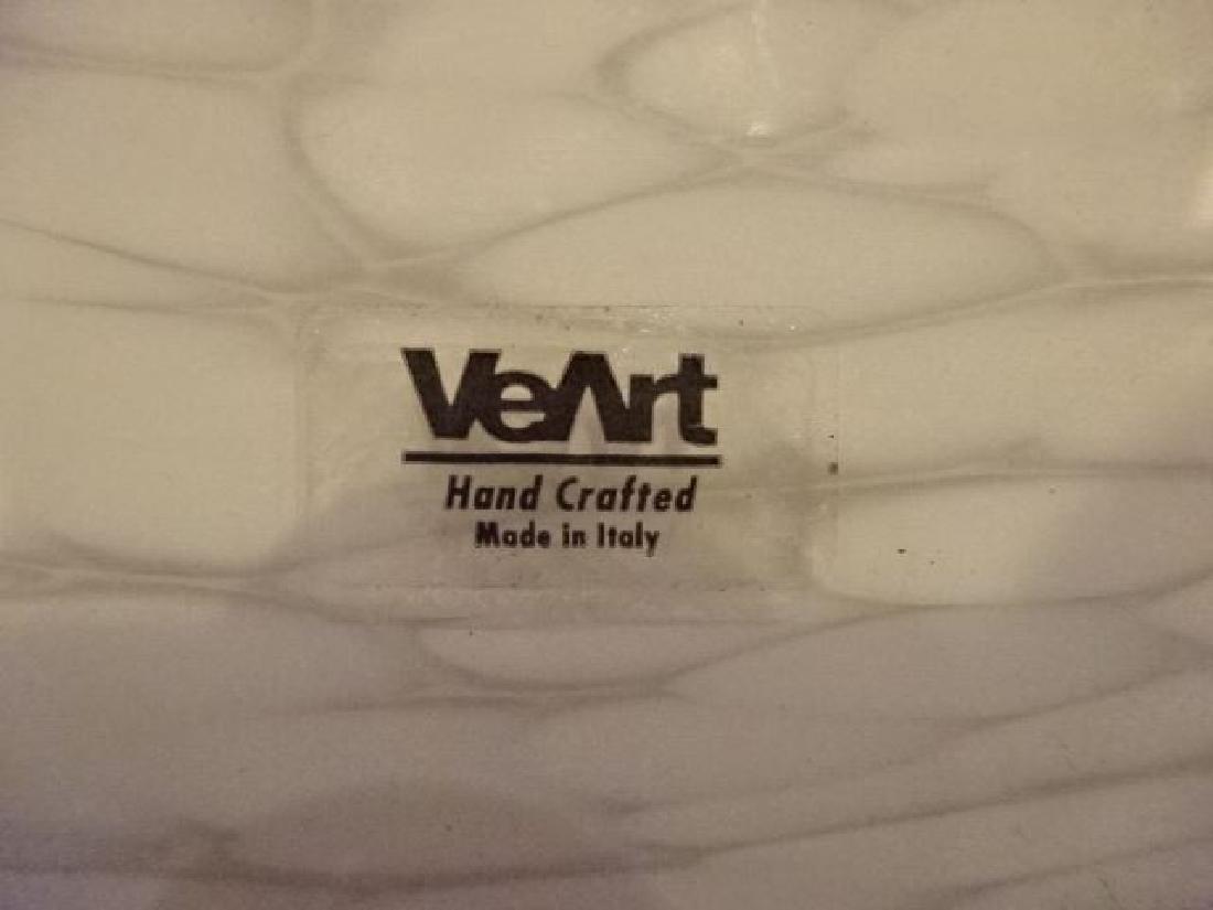 VEART ITALIAN ART GLASS CEILING LAMP, WHITE AND CREAM - 6