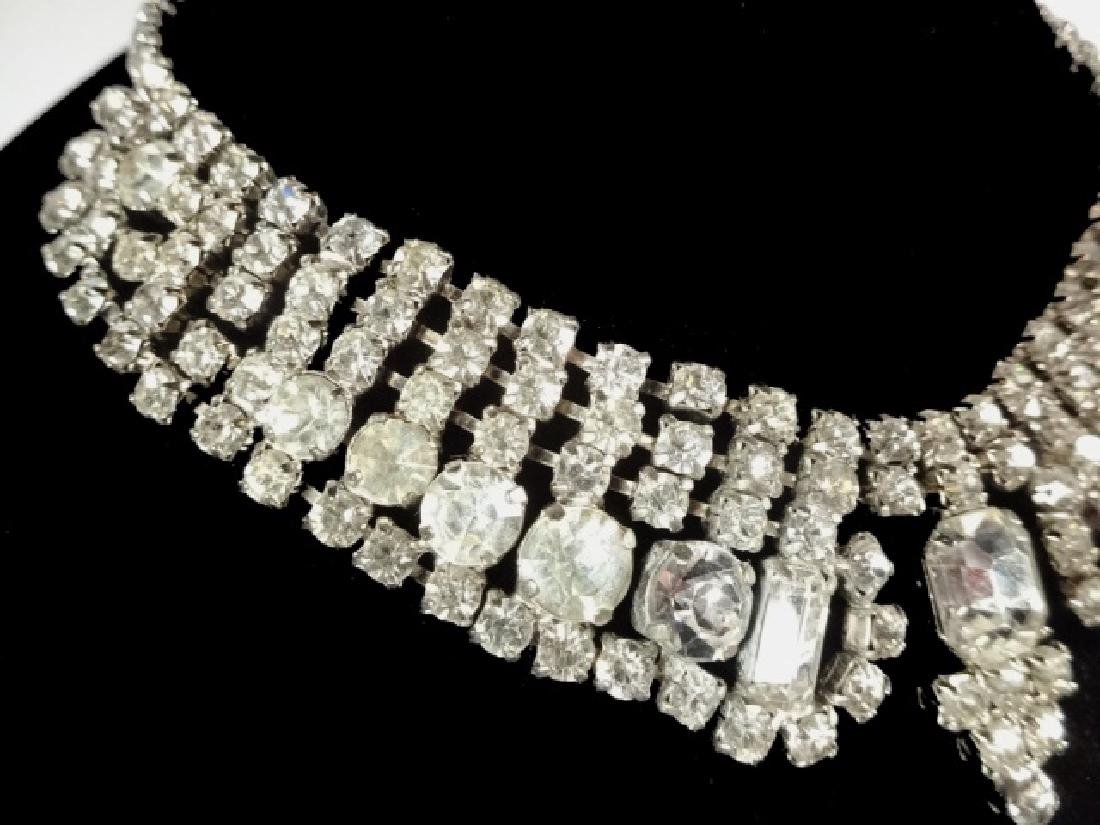"RHINESTONE CHOKER NECKLACE, APPROX 15"" - 3"