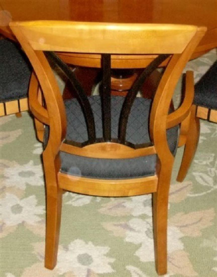 7 PC OVAL BIEDERMEIER DINING SET, TABLE AND 6 CHAIRS (2 - 2