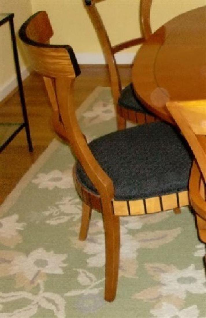 7 PC OVAL BIEDERMEIER DINING SET, TABLE AND 6 CHAIRS (2 - 3