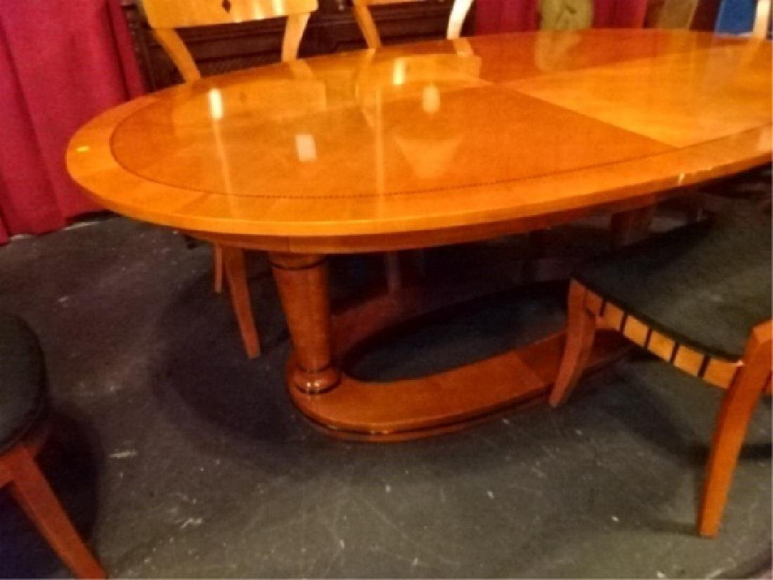 7 PC OVAL BIEDERMEIER DINING SET, TABLE AND 6 CHAIRS (2 - 6