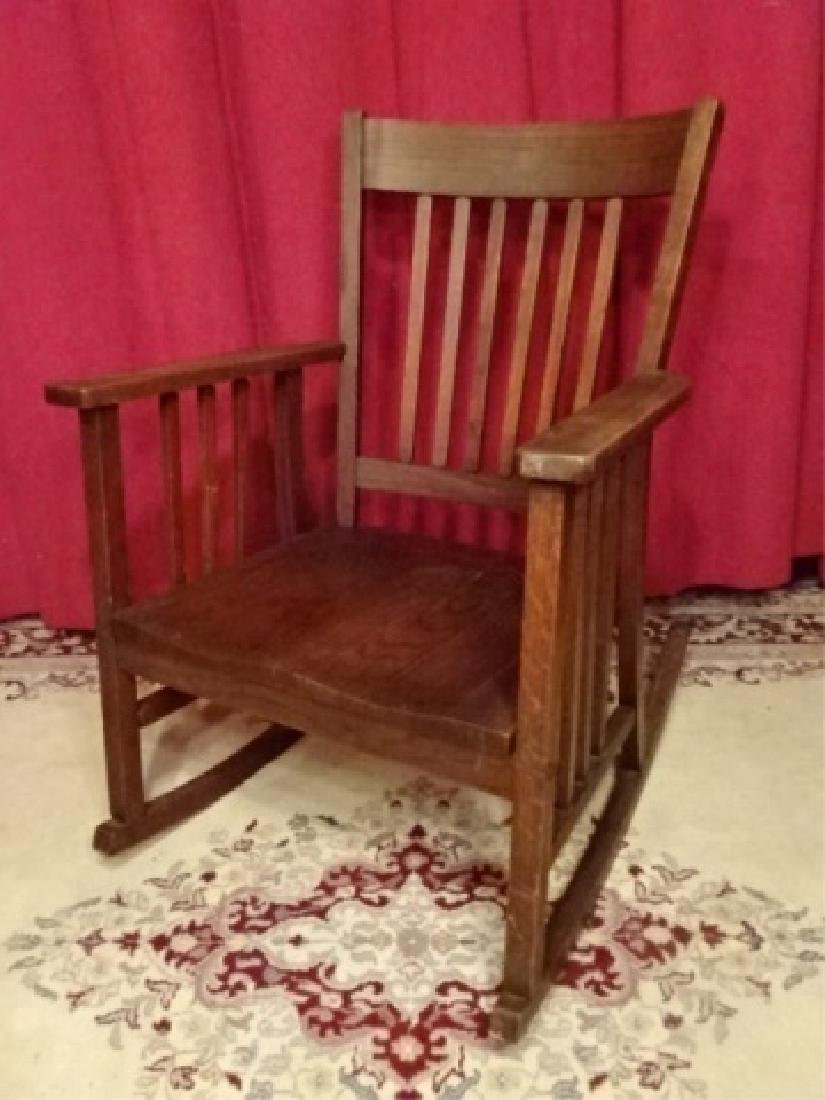 VINTAGE ARTS AND CRAFTS ROCKER, EARLY 20TH C. VERY GOOD