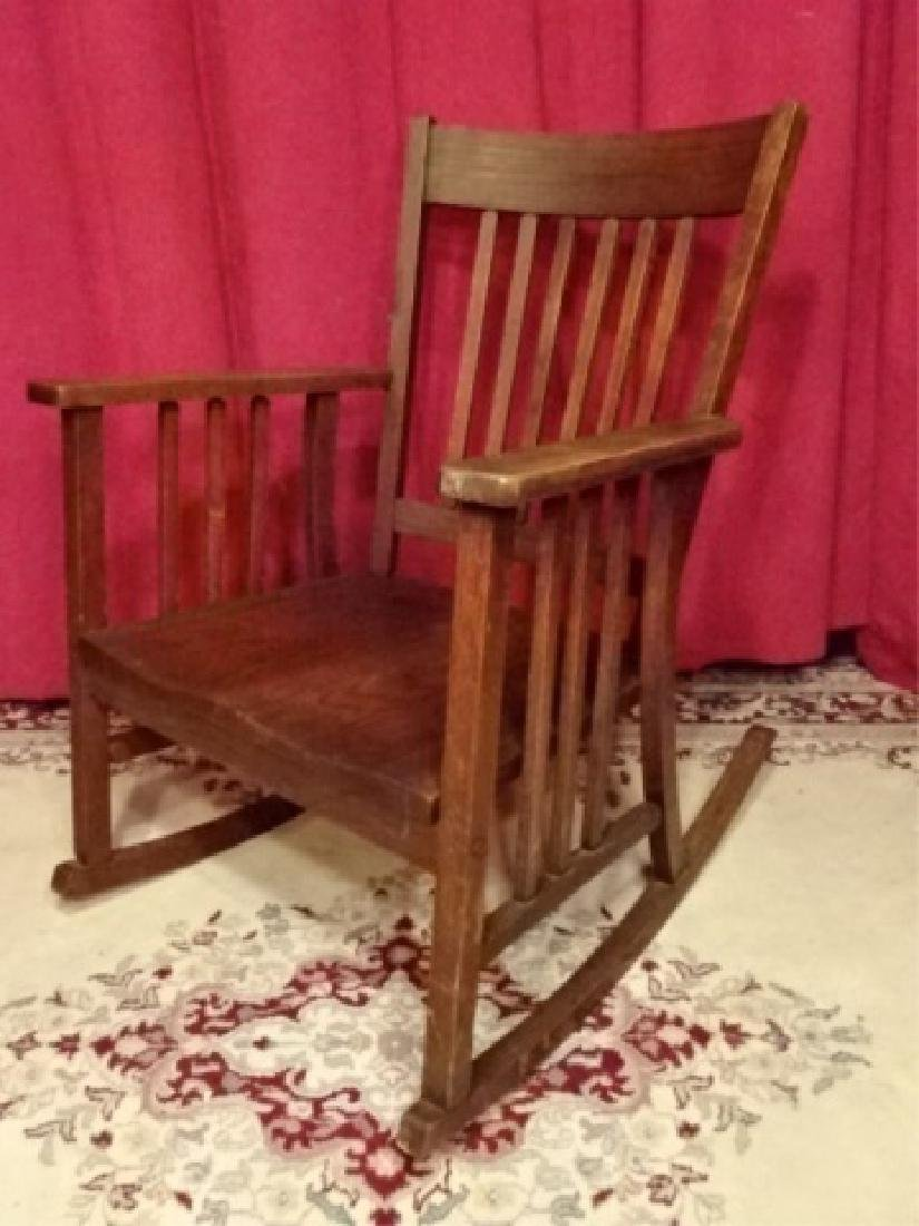 VINTAGE ARTS AND CRAFTS ROCKER, EARLY 20TH C. VERY GOOD - 2