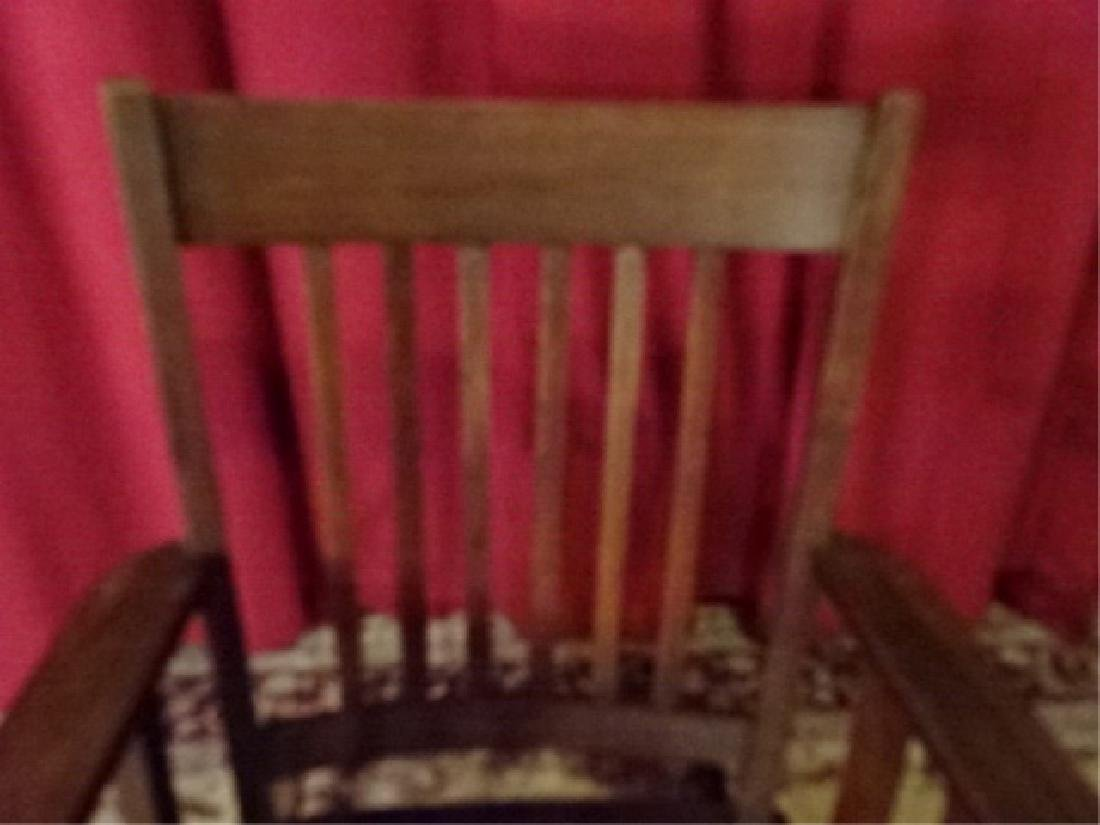 VINTAGE ARTS AND CRAFTS ROCKER, EARLY 20TH C. VERY GOOD - 5