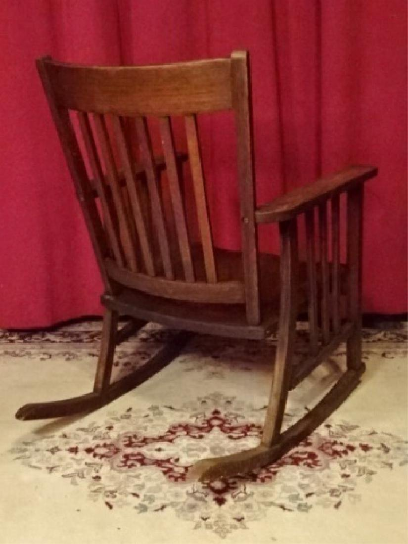 VINTAGE ARTS AND CRAFTS ROCKER, EARLY 20TH C. VERY GOOD - 7