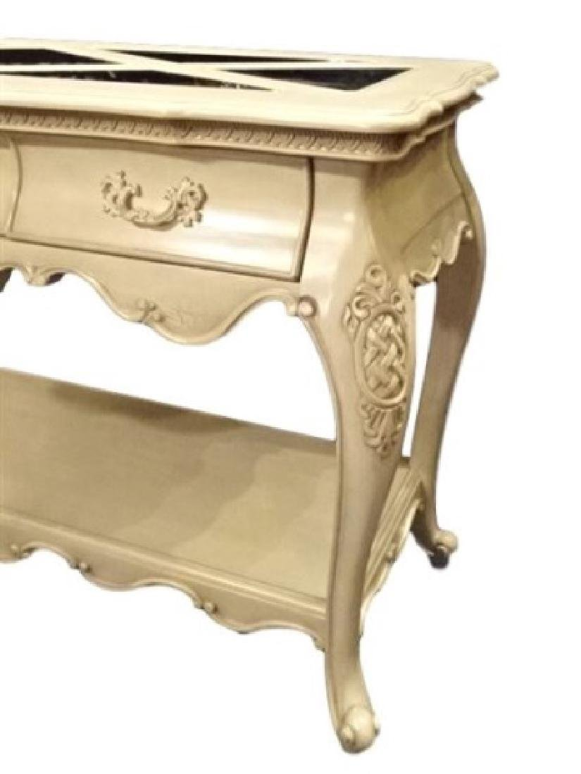 MICHAEL AMINI CONSOLE TABLE BY AICO, FRENCH STYLE, - 3
